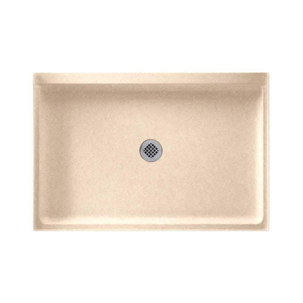 Swan 32 in. x 48 in. Solid-Surface Single Threshold Shower Floor in Cornflower