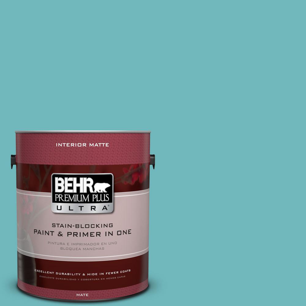 BEHR Premium Plus Ultra 1 gal. #510D-5 Surfer Flat/Matte Interior Paint