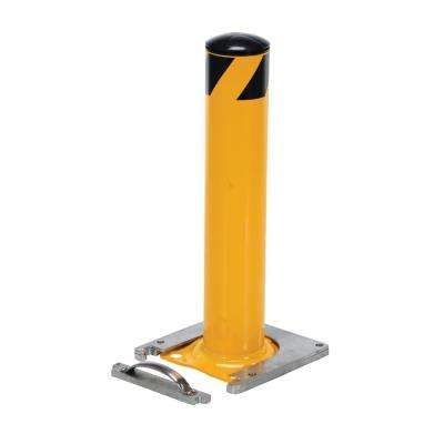 24 in. x 5.5 in. Mounted Steel Pipe Bollard Surface