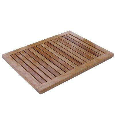 Natural 1 ft. 4.75 in. x 1 ft. 11.75 in. All Weather Bamboo Floor and Bath Mat