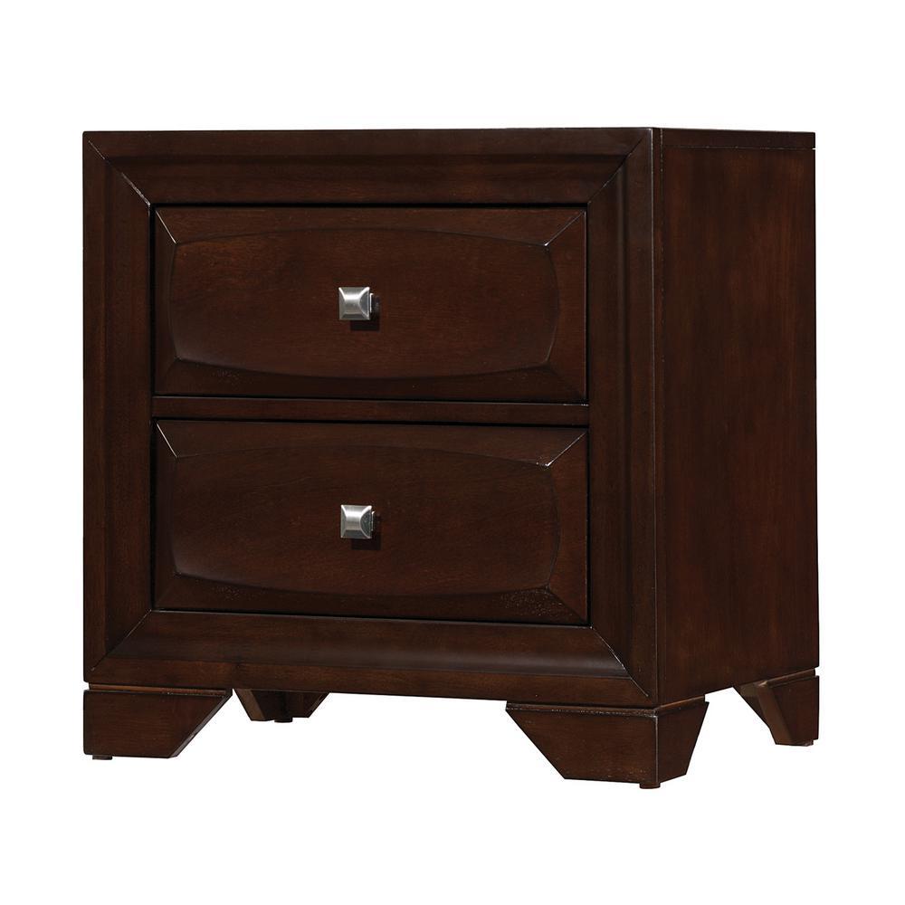 Jaxson 2-drawer Nightstand Cappuccino