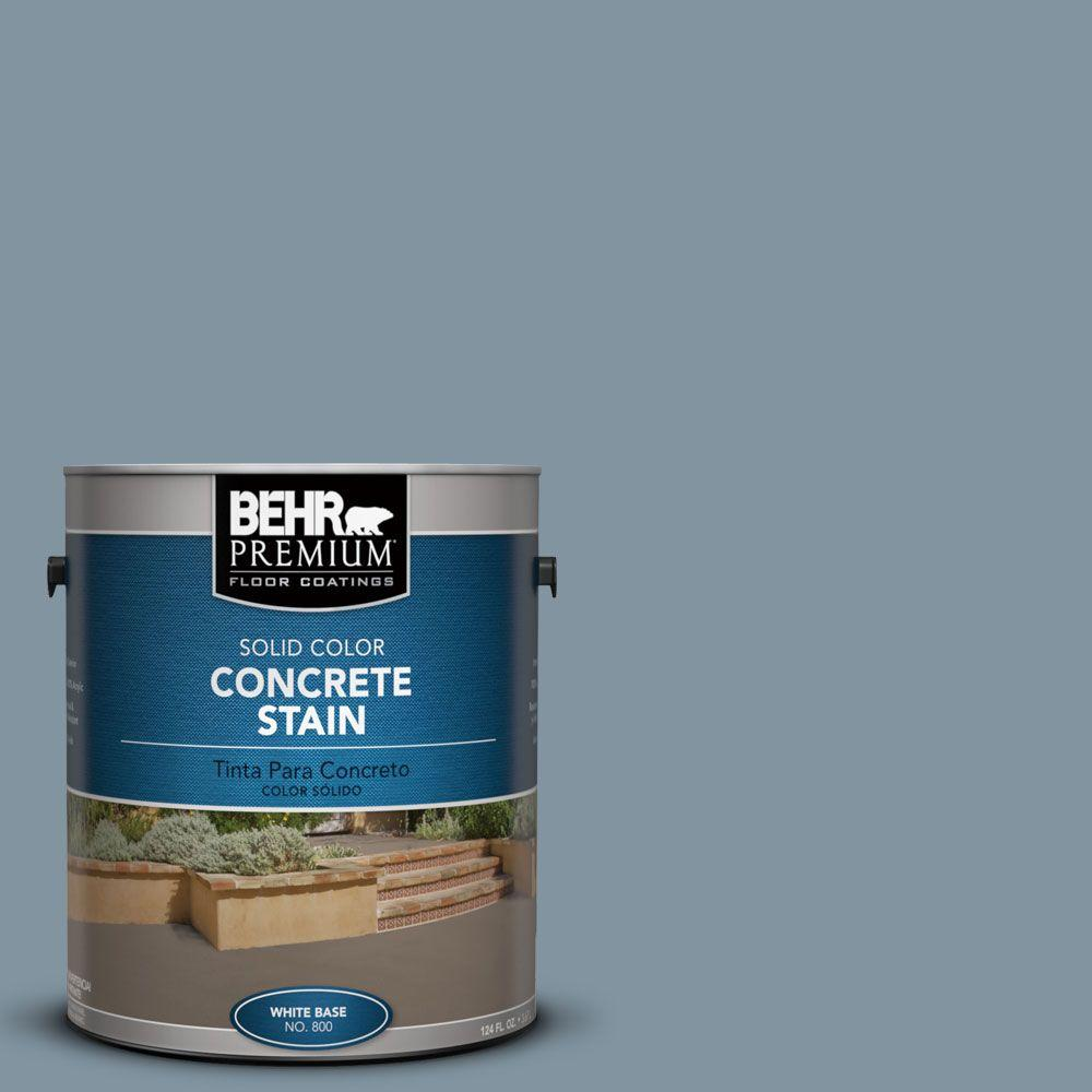 BEHR Premium 1 gal. #PFC-54 Blue Tundra Solid Color Concrete Stain