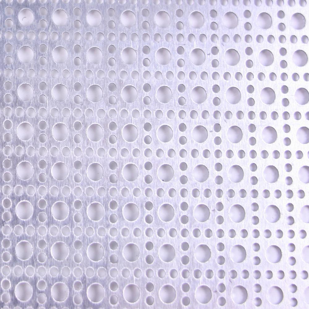 1 ft. x 1 ft. Cloverleaf - Mill Aluminum Sheet