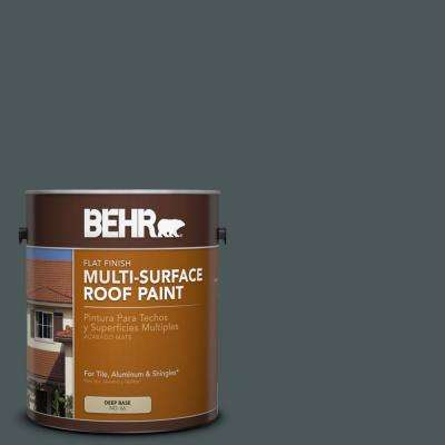 1 gal. #RP-29 Blue Pine Flat Multi-Surface Exterior Roof Paint