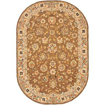 Chelsea Brown/Ivory 8 ft. x 10 ft. Oval Area Rug