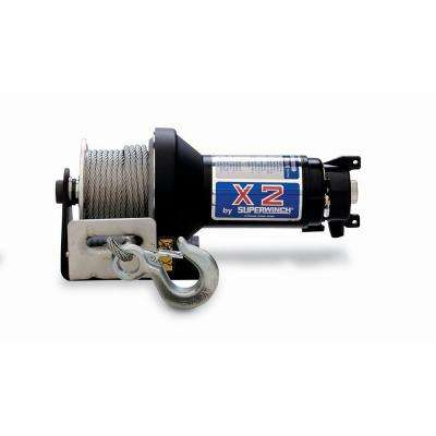 X2 Series 3,000 lb. 24-Volt DC Trailer Winch with Hawse Fairlead and Protected Solenoid Circuit Breaker