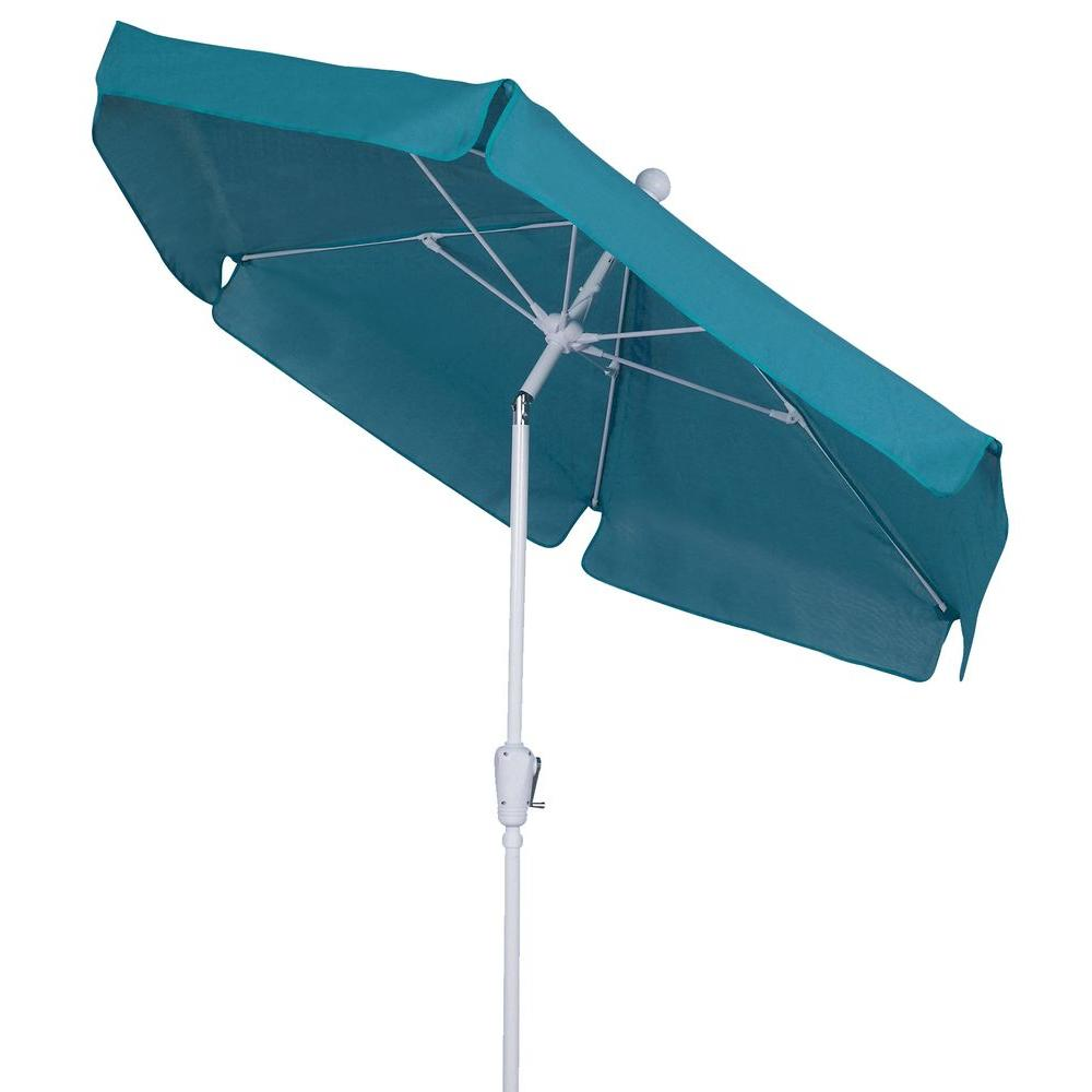 Exceptionnel Fiberbuilt Umbrellas 7.5 Ft. Patio Umbrella In Teal