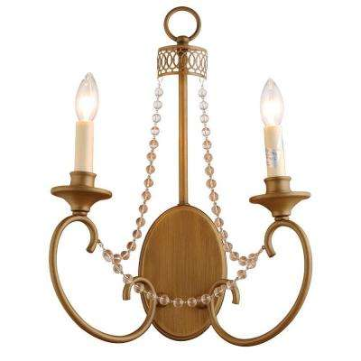 Estelle 2-Light Champagne Sconce