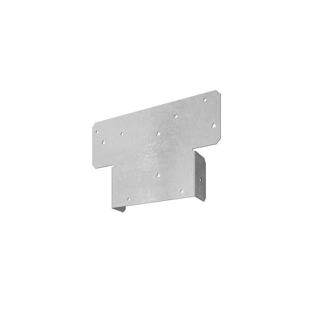 Simpson Strong-Tie Galv Steel 18 Ga Z-Max BC 6 X 6 Post Cap /& Base BC6Z