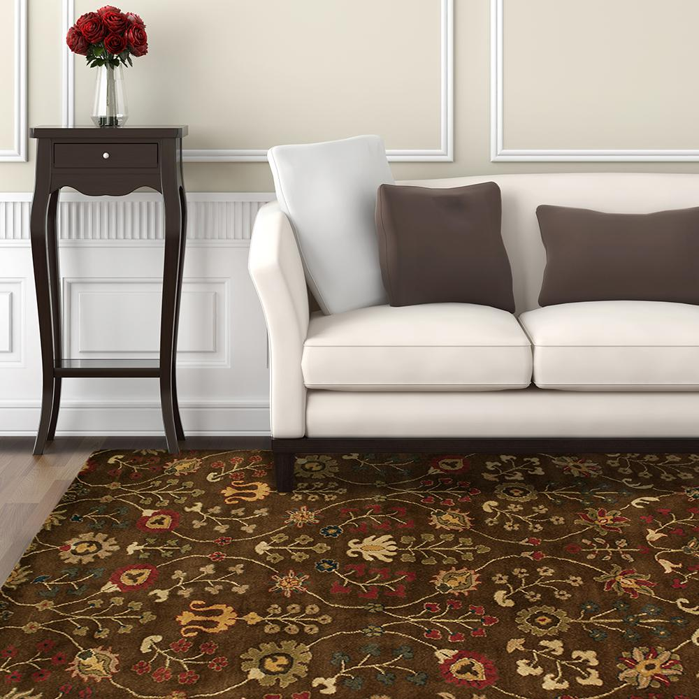 Provencial Autumn Wool 8 Ft X 10 Area Rug