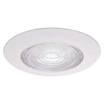 Fresnel Glass 6 in. White Recessed Trim