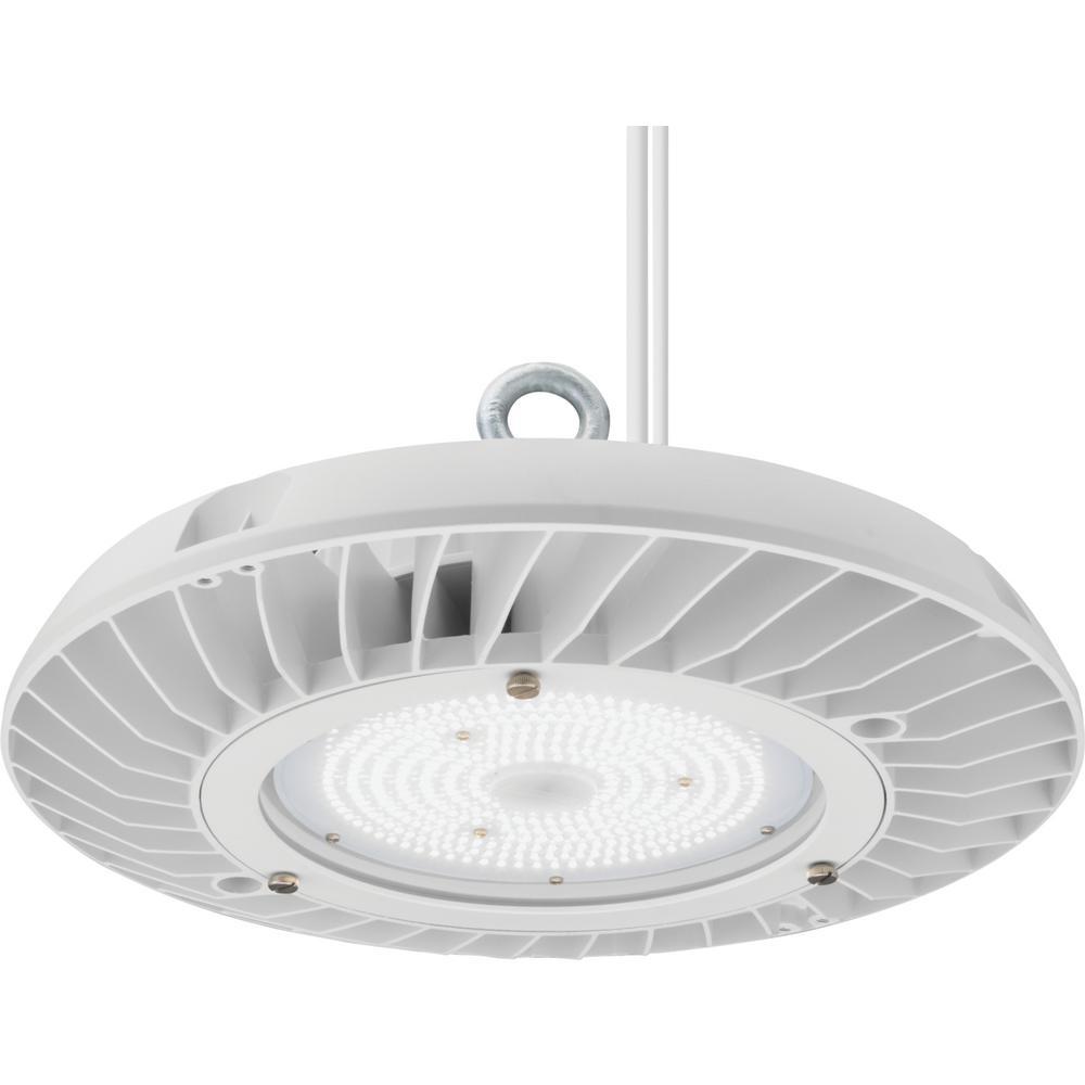 JEBL 92.4-Watt Matte White Integrated LED Round High Bay Light