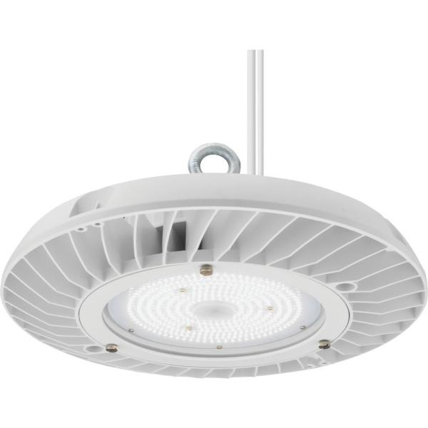 Contractor Select JEBL Series 13 in. 250-Watt Equivalent Integrated LED Dimmable White High Bay Light Fixture, 4000K