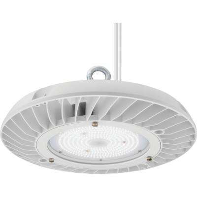 Contractor Select JEBL Series 13 in. 250-Watt Equivalent Integrated LED Dimmable White High Bay Light Fixture, 5000K