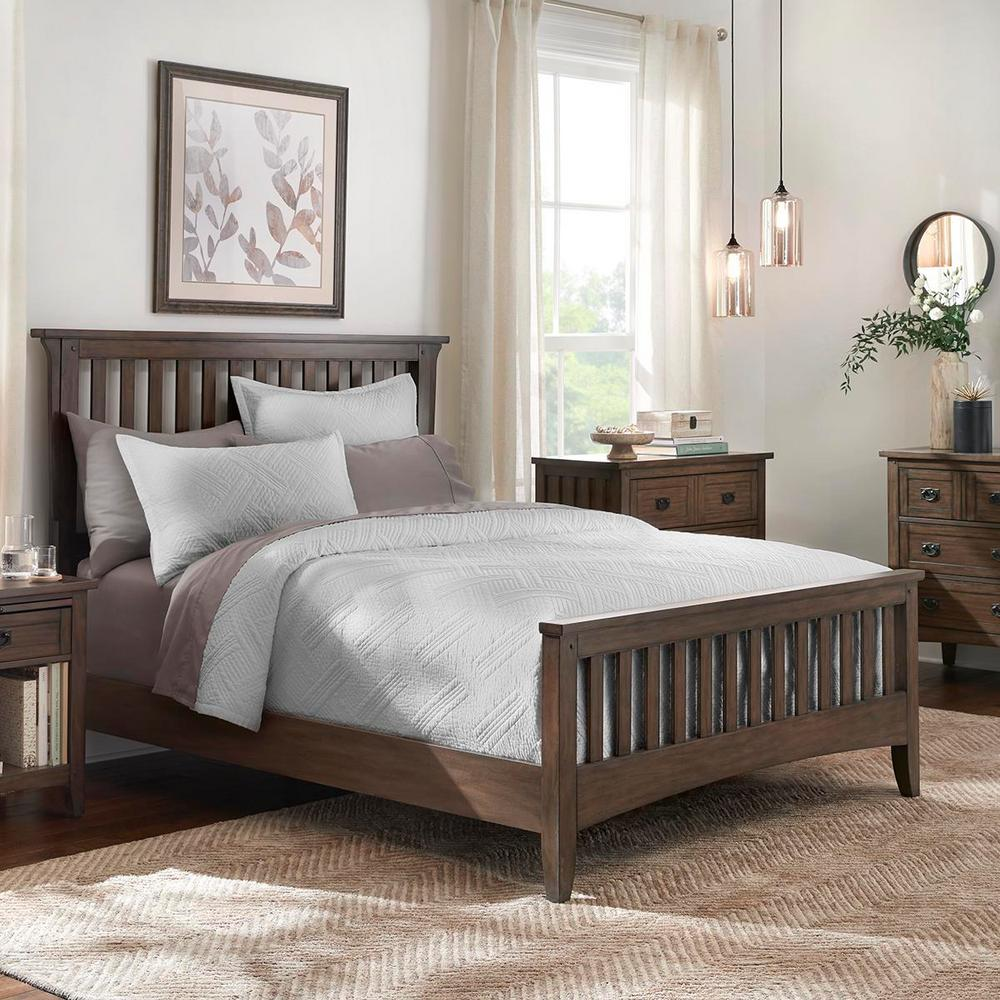 Home Decorators Collection Binghamton 3-Piece Shadow Gray Solid Full/Queen Quilt Set