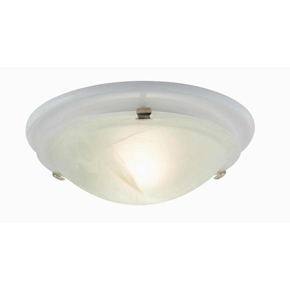 Broan-NuTone Decorative Brushed Nickel 80 CFM Ceiling Bathroom Exhaust Fan with Round Globe and Easy Change Trim