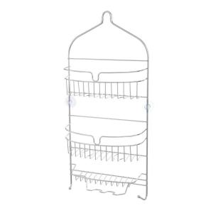Kenney 24 inch x 11 inch x 4.5 inch Hanging 3-Shelf Shower Caddy in Chrome by Kenney