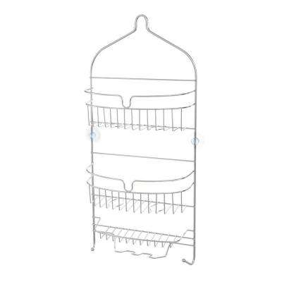 24 in. x 11 in. x 4.5 in. Hanging 3-Shelf Shower Caddy in Chrome