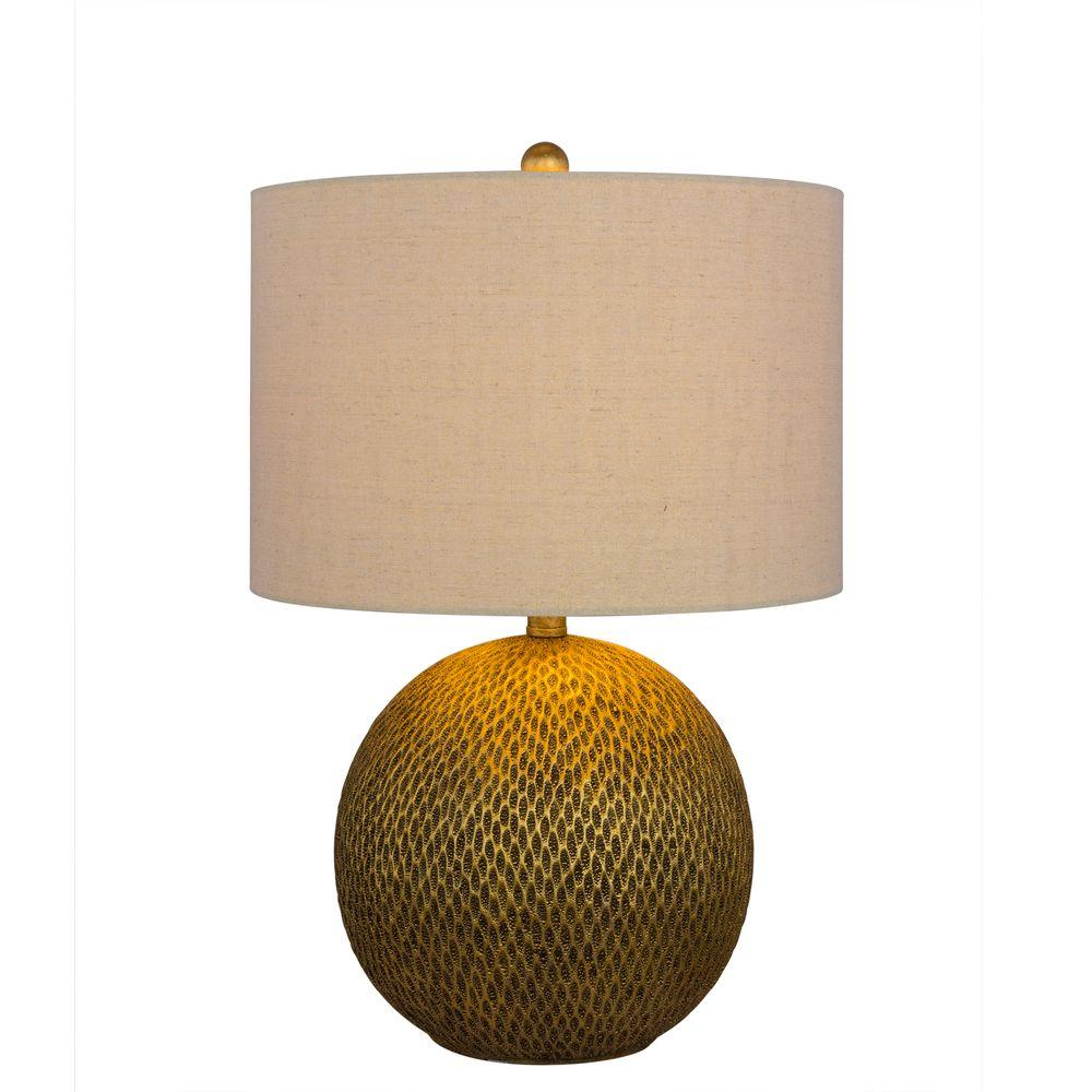 Fangio Lighting 23.5 In. Gold Resin Table Lamp 6205GLD   The Home Depot