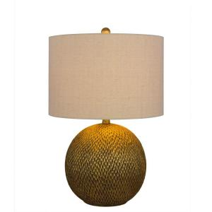 23.5 in. Gold Resin Table Lamp