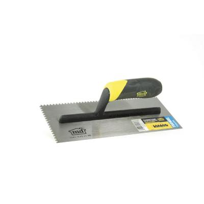 11 in. x 1/8 in. x 1/8 in. Square Notch Stainless Steel Flooring Trowel with Comfort Grip