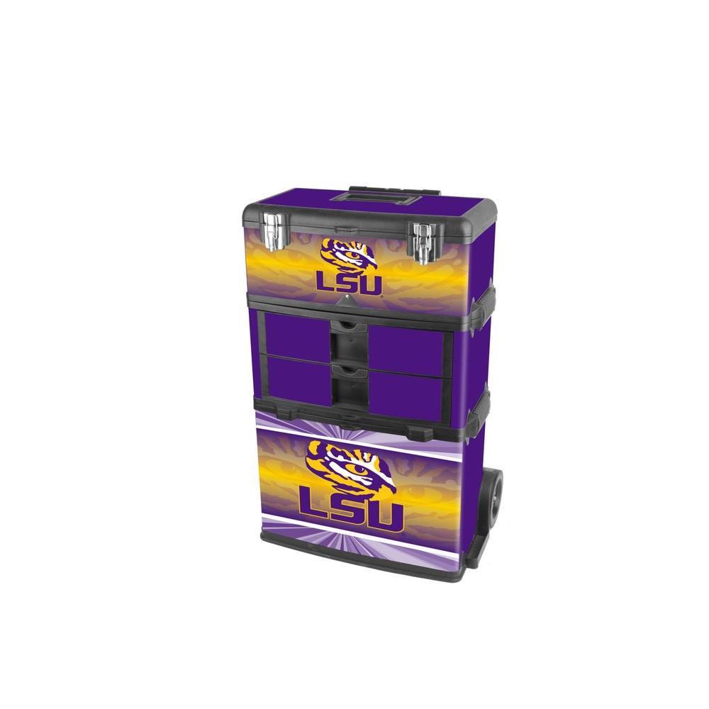 3-in-1 Louisiana State University Rolling Tool Box