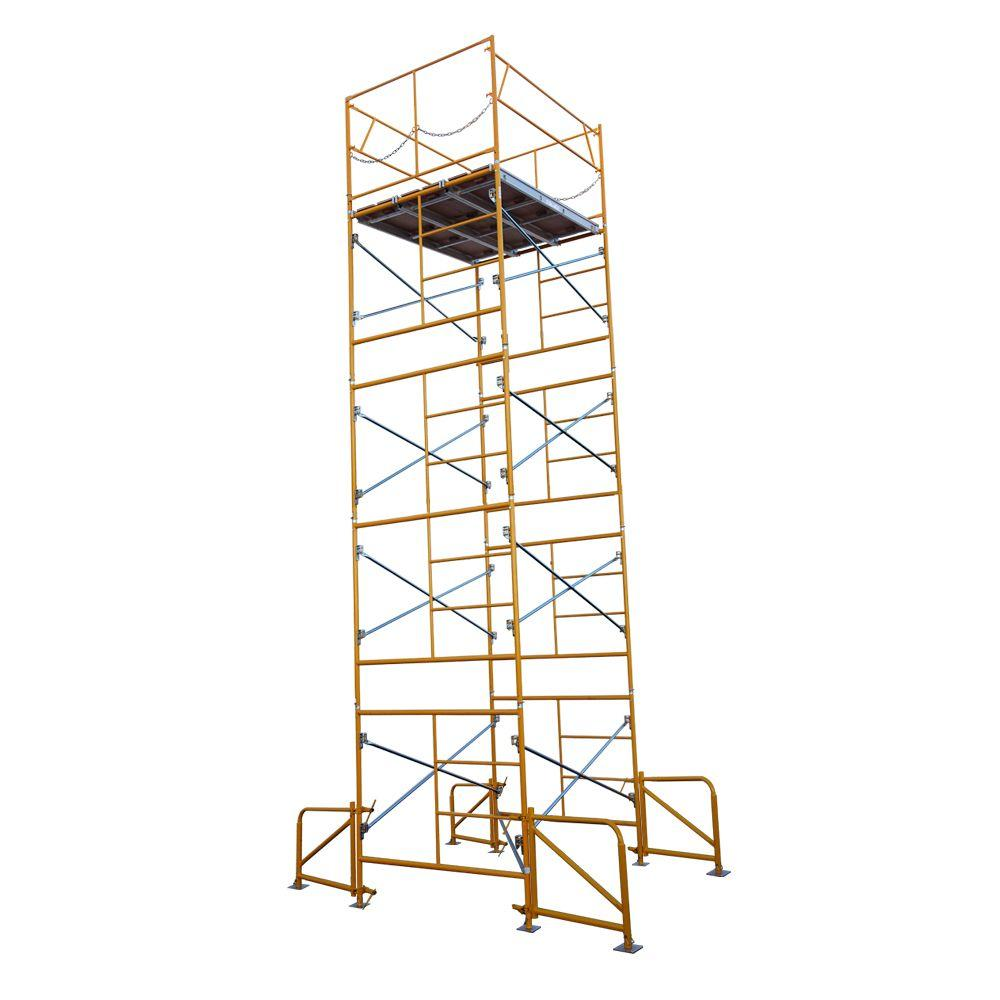 Fortress 20 ft. x 7 ft. x 5 ft. Stationary Scaffold Tower 2475 lb. Load Capacity