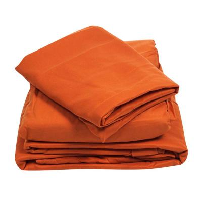 1200 Series 3-Piece Rust 75 GSM Twin-XL Microfiber Sheet Set