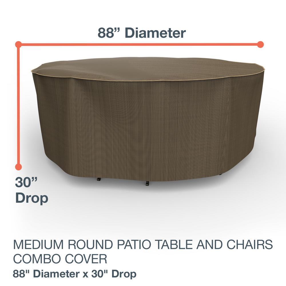 Prime Budge Neverwet Hillside Medium Black And Tan Round Table And Chairs Combo Cover Machost Co Dining Chair Design Ideas Machostcouk