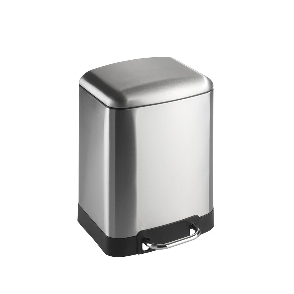 Studio 1.5 Gal. Fingerprint-Proof Easy Close Brushed Stainless Steel Step on