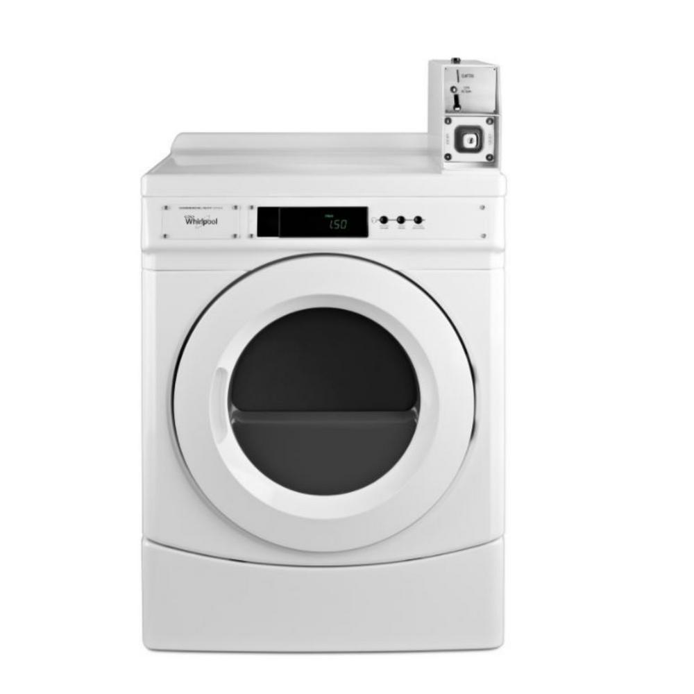 Whirlpool 6.7 cu. ft Commercial Front Load Gas Dryer in White