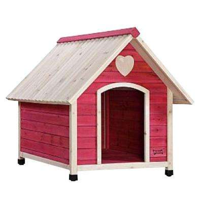 3.8 ft. L x 2.6 ft. W x 1.6 ft. H Arf Frame Pink Large Dog House