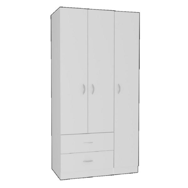 Austral White Armoire (71.1 in. x 35.5 in. x 18.5 in.)