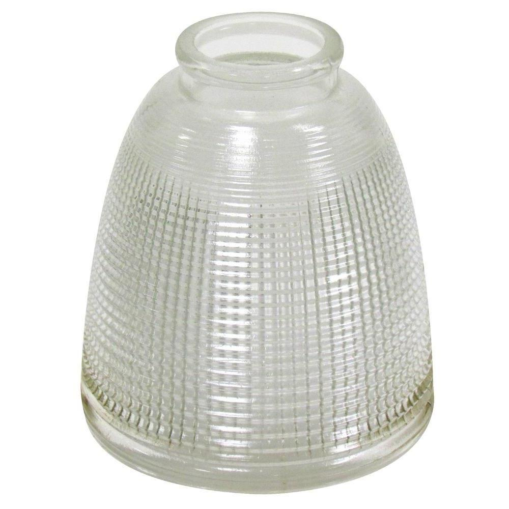 5-1/8 in. Clear Prismatic Glass Shade with 2-1/4 in. Fitter and