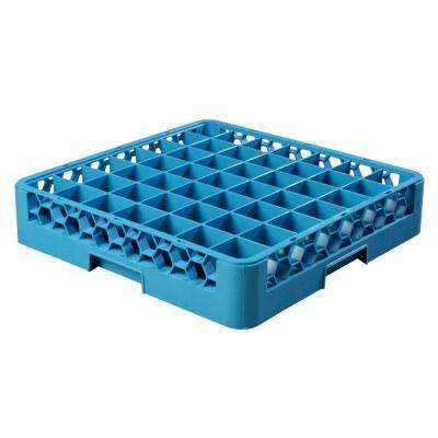 19.75x19.75 in. 49-Compartments Glass Rack (for Glass 2.13 in. Diameter, 3.19 in. H) in Blue (Case of 6)