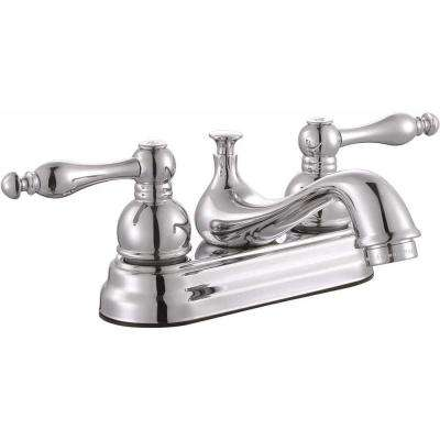 Wellington 4 in. Centerset 2-Handle Bathroom Faucet in Chrome