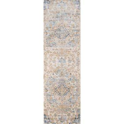 Amelia Beige 2 ft. x 8 ft. Indoor Runner Rug
