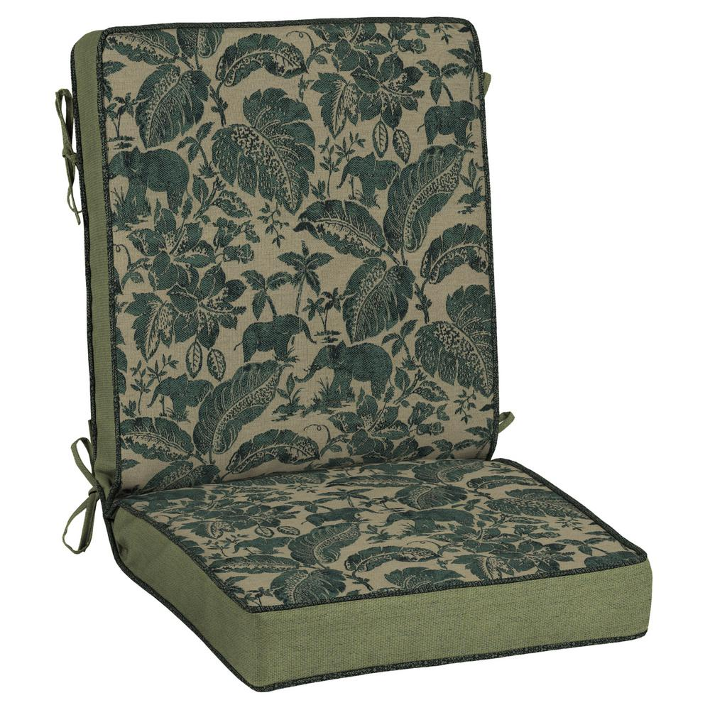 Casablanca Elephant Outdoor Dining Chair Cushion