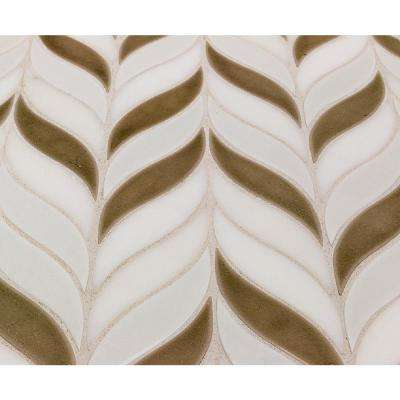 Oracle Sprig Sea Wind 11-3/4 in. x 10-1/2 in. x 10mm Glazed Ceramic Mosaic Tile
