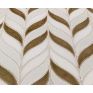 Delphi Sprig Sea Wind 11.75 in. x 10.5 in. Marble and Ceramic Mosaic Tile (0.86 sq. ft./Sheet)