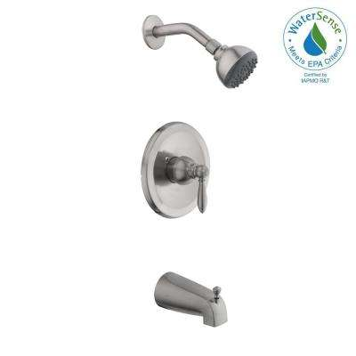 2500 Series Single-Handle 1-Spray Tub and Shower Faucet in Brushed Nickel (Valve Included)