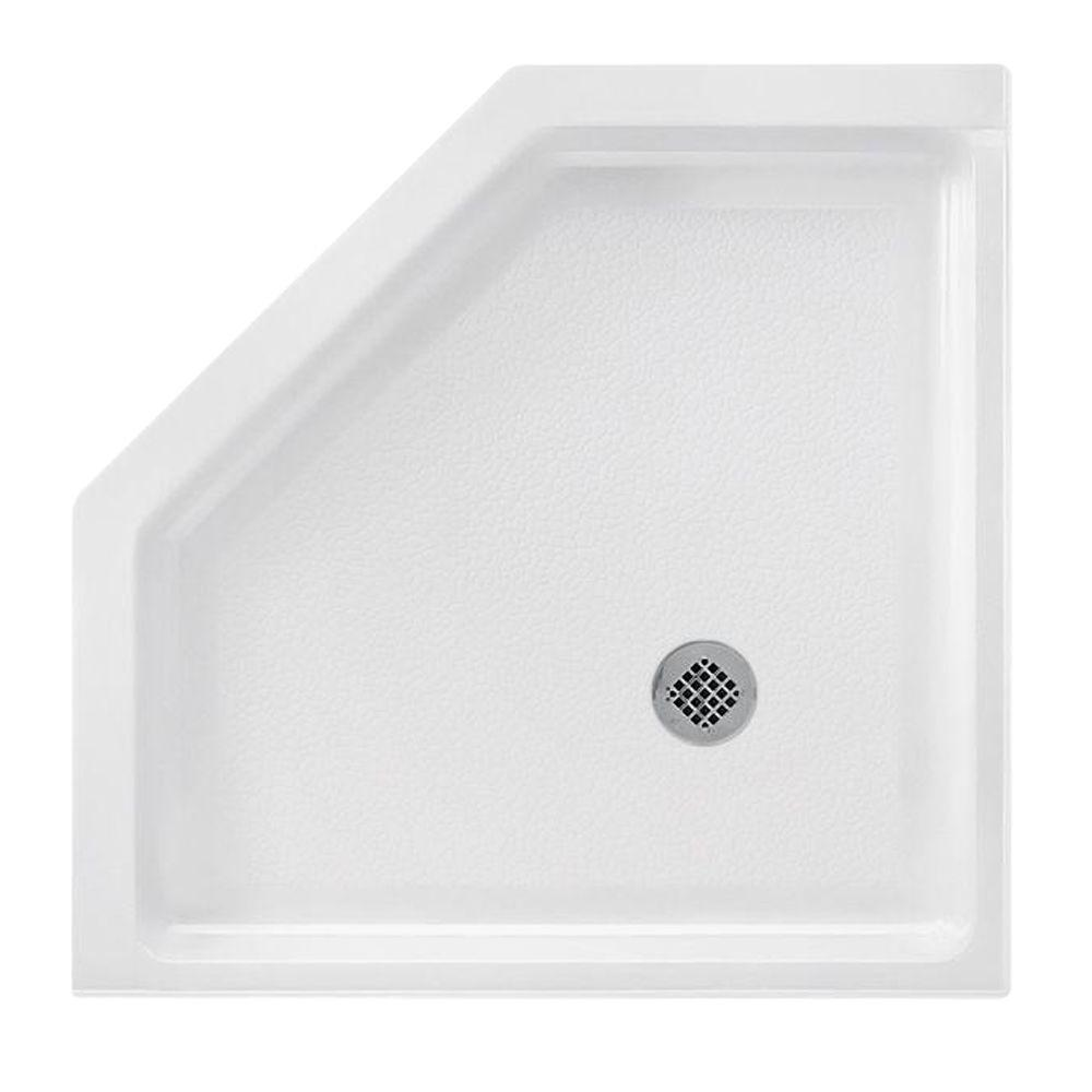 Solid Surface Single Threshold Shower Pan