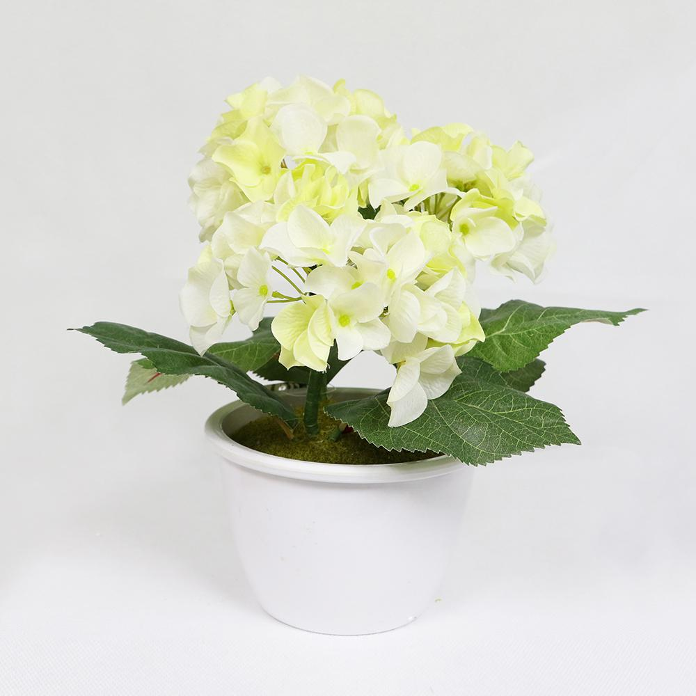 Indoor Artificial Potted Hydrangea 297 Tb809 The Home Depot
