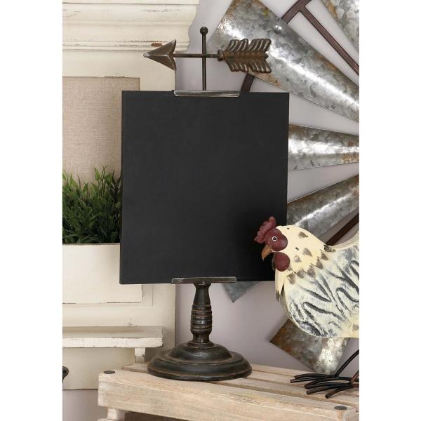 Rustic Iron and Wood Chalkboard with Arrow Finial