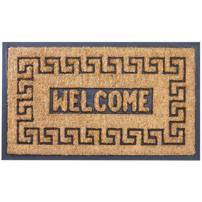 Meandros Tan 30 in. x 18 in. Coir Outdoor Door Mat