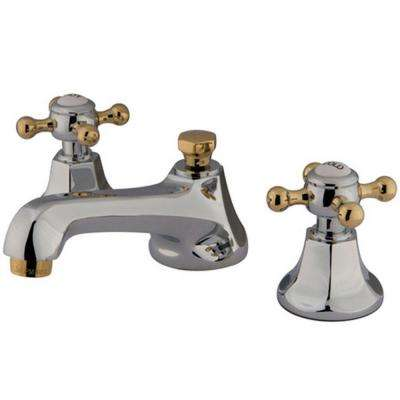 Captivating Widespread 2 Handle Mid Arc Bathroom Faucet In Chrome And Polished