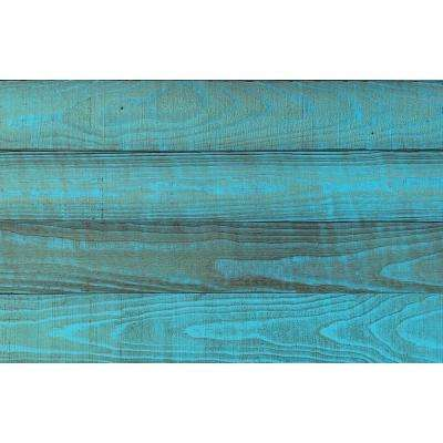 Thermo-treated 1/4 in. x 5 in. x 4 ft. Tiffany Blue Barn Wood Wall Planks (10 sq. ft. per 6-Pack)