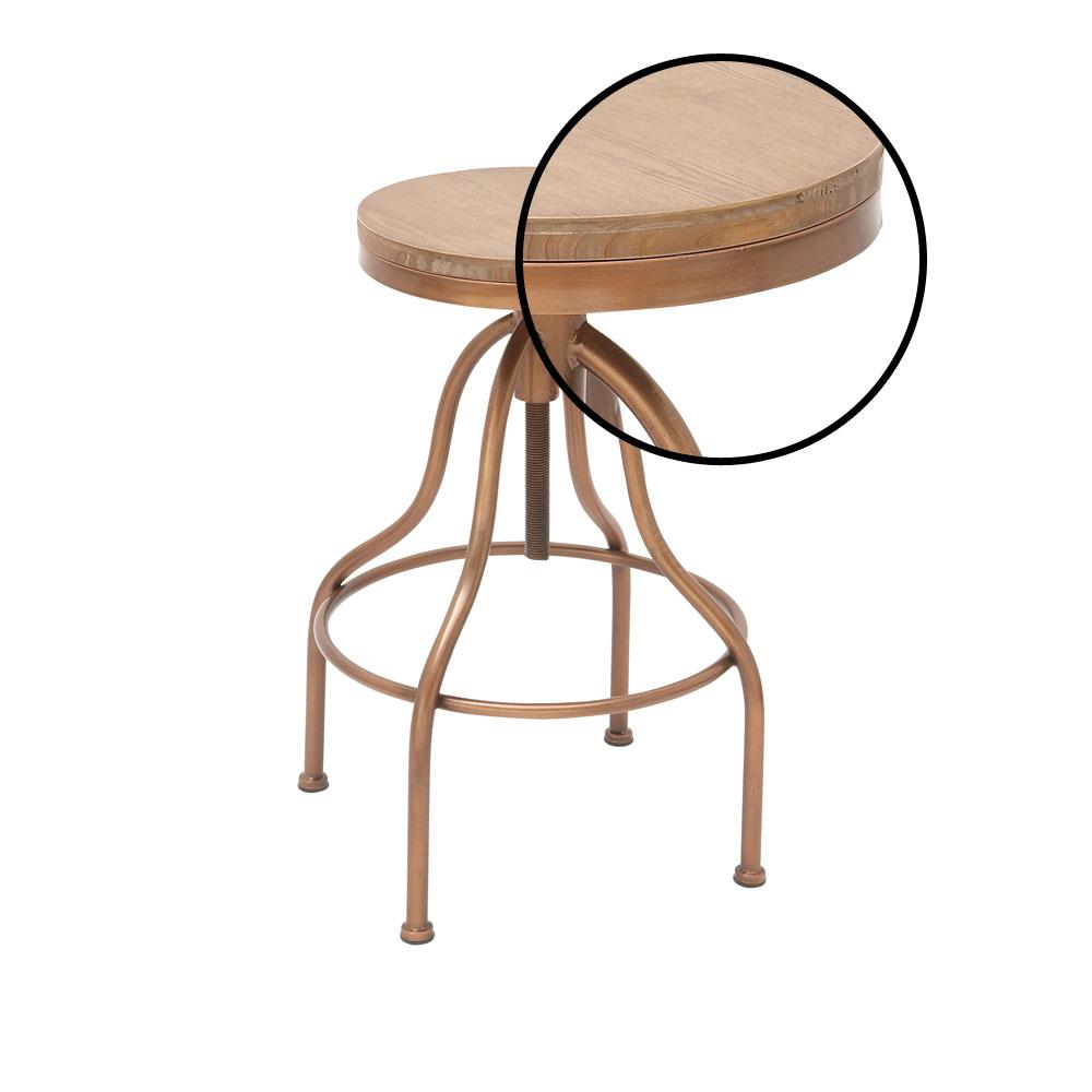 the latest 073f0 e7958 34 in. Copper Gold and Brown Wood and Metal Bar Stool