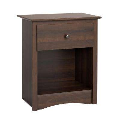 Fremont 1-Drawer Espresso Nightstand