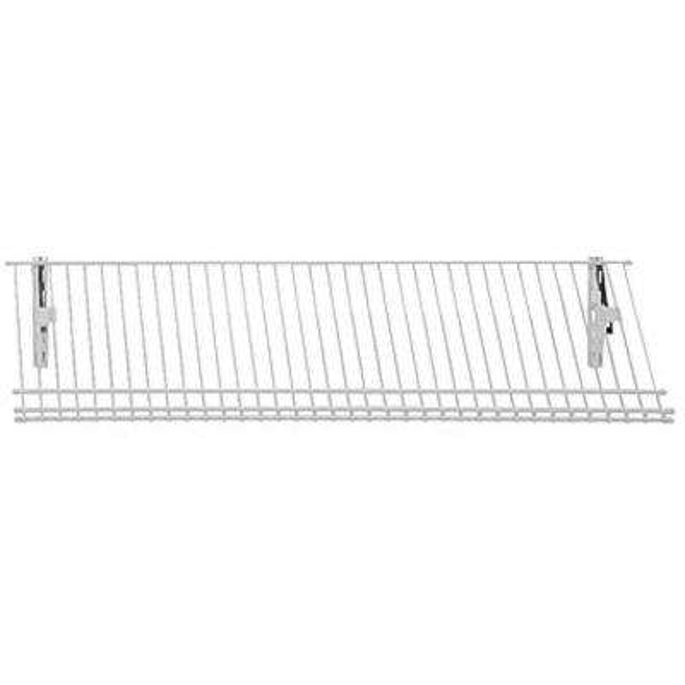 ShelfTrack 11.25 in. D 36 in. W x 4 in. H 5-Pair Ventilated Wire Shoe Shelf Steel Closet System